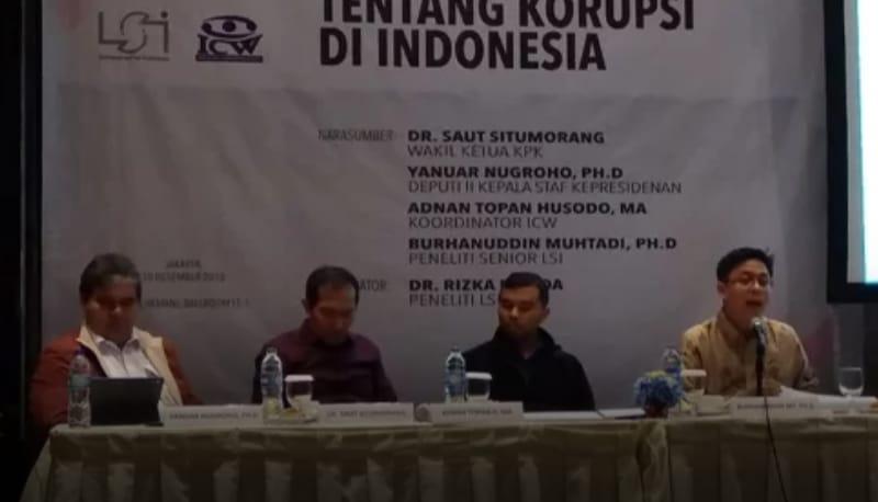 Basmi Korupsi, Publik Masih Unggulkan KPK Ketimbang Lembaga Kepresidenan